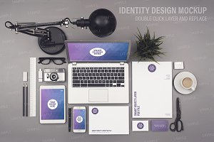 Identity design mockup smart objects