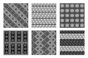 Set of seamless ornamental patterns