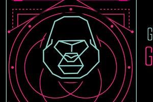 Geometric Gorilla Vector Poster