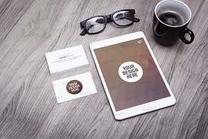 iPad / businesscard mockup