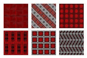 Set of seamless ornamental patterns