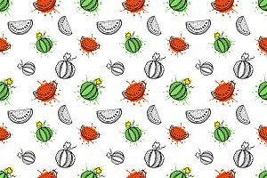 Seamless hand drawn vector pattern