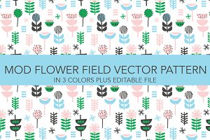 mod flower vector pattern