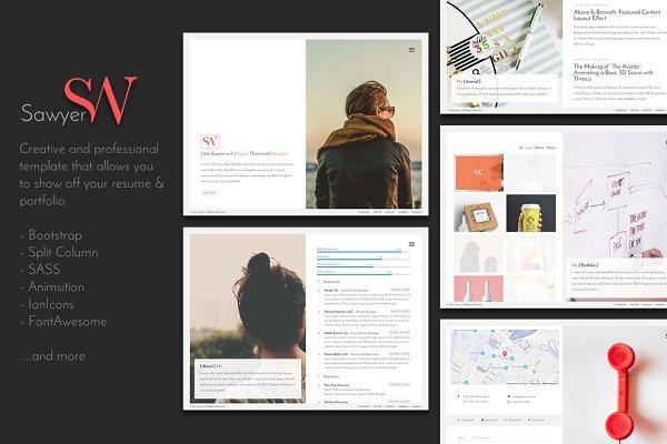 Bootstrap Themes: FWPolice - Sawyer - Personal Resume & Portfolio
