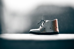 Little Shoes in rainy season
