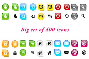 Set of 400 color icons