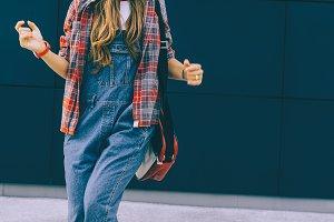 Study season. Fashion urban Girl