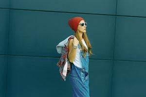 Student Girl. Autumn urban style