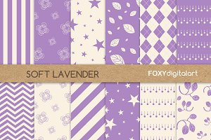 Lavender Digital Paper Scrapbook