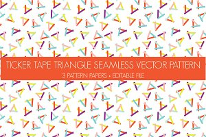triangle vector seamless pattern