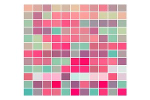 Vector Color Rectangles Pinks Greens