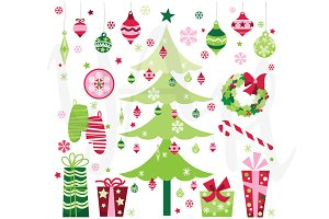 Christmas Elements Clip Art