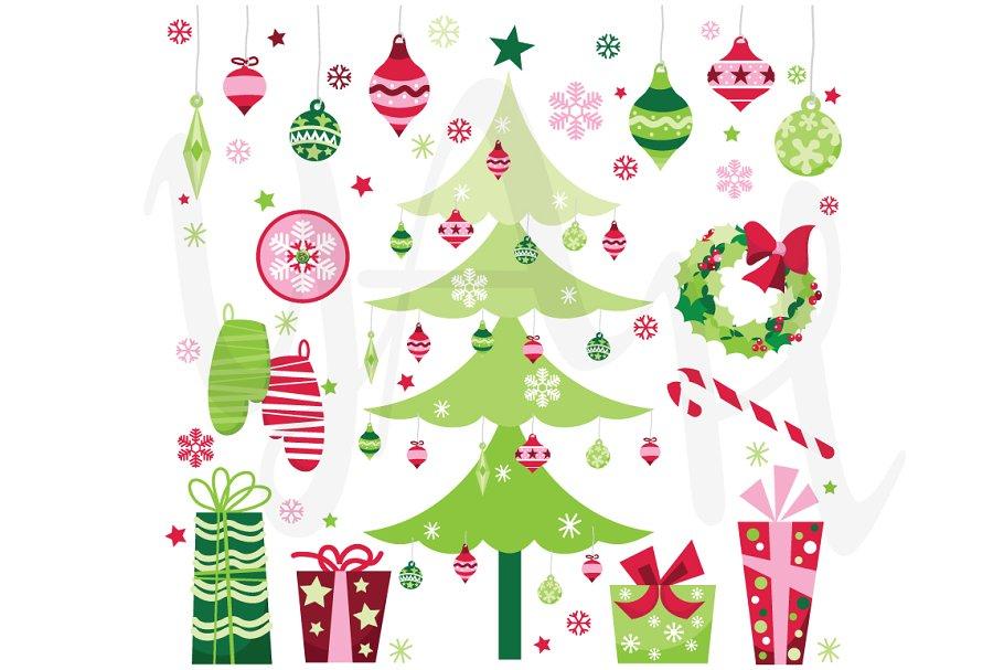 55f91bb5dd8d6 Christmas Elements Clip Art ~ Illustrations ~ Creative Market