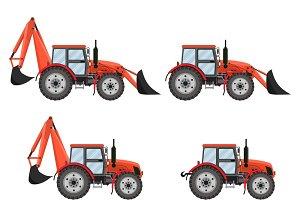 Tractor, excavator, bulldozer