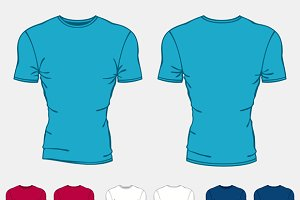 Set of t-shirts templates for men.