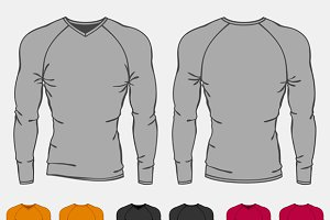 Set of long sleeve shirts for men.