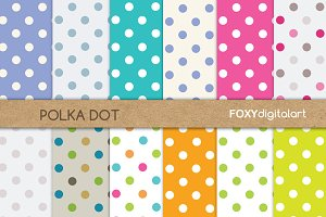Polka Dot Scrapbook Paper Pack