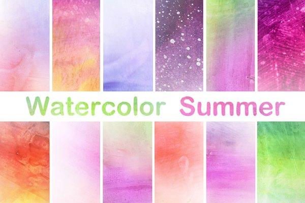 Watercolor Papers Digital Scrapbook…