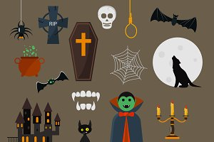 Dracula icons vector set