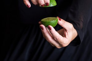sweet fruit in woman hand