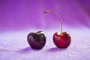 cherry on fabric