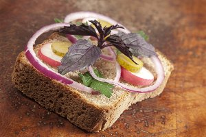Hot vegetable sandwich