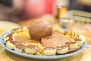 Ice cream and pancake
