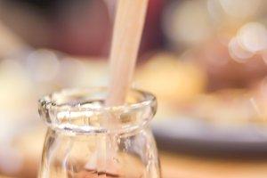 little jar of honey for dessert