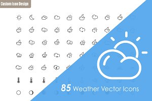 85 Weather Vector Icons