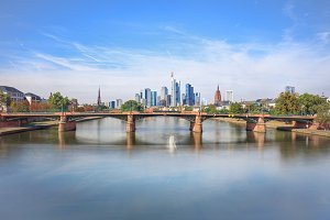Skyline of modern Frankfurt am Main, Germany
