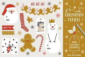 Christmas Bundle: handdrawn elements