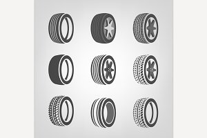 Tires Icons Collection
