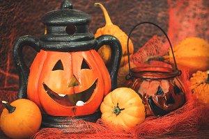 Halloween pumpkin with decoration #2