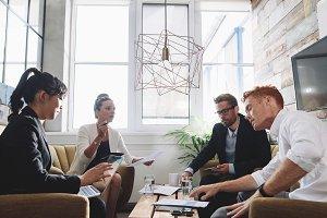 Creative people having meeting