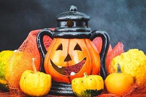 Halloween pumpkin with decoration #3