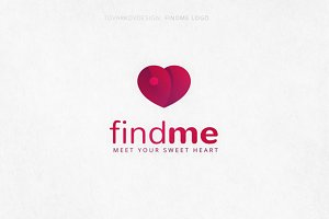 Findme Heart Logo Template