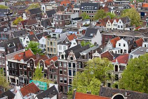 City of Amsterdam From Above