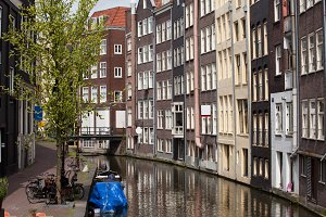Row Houses at Amsterdam Canal