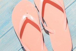 flip flops on table
