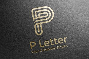 Letter P Logo Vector Icon