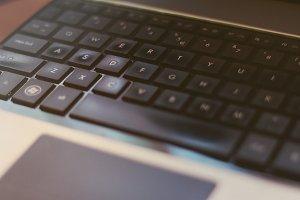 Black notebook keyboard