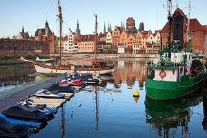 Gdansk Old Town Skyline and Harbour