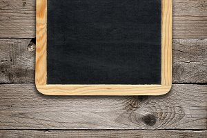 Blackboard on wood
