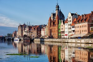 Old Town Of Gdansk River View