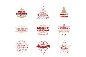 Vector Christmas Logo/Label set