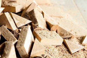 wooden splinter cut