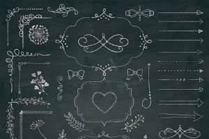 50 PNG Chalk Drawing Elements