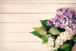 Vintage floral card, photo