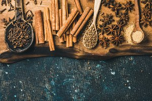 Winter warming spices for baking