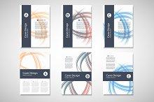 Abstract line brochure design Vol.4
